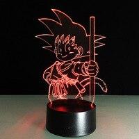 2018 Nowy Dragon Ball 3D Noc Światło Kolorowe Gradientu lampora Światła LED Lampa Stołowa Akrylowe Oświetlenie Zabawki Dla Dzieci Sypialnia Dekoracji