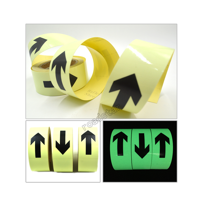 Купить с кэшбэком 50mmX3m glow in the dark tape lasting 4 hours Luminous film for safety