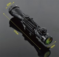 4 16x50EG Riflescope Railed Hunting Optical Telescopic Sight Scope with Rial mount for Tactical Shooting Airsoft Gun Weapons