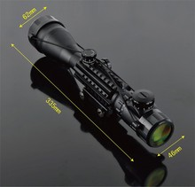 Buy 4-16x50EG Riflescope Railed Hunting Optical Telescopic Sight Scope with Rial mount for Tactical Shooting Airsoft Gun Weapons