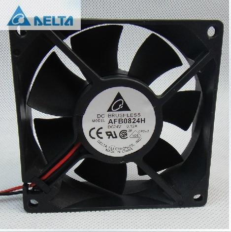 Original Delta AFB0824H 8CM 80MM 8025 80*80*25MM 24V 0.12A PC Case Fan cooler heatsink