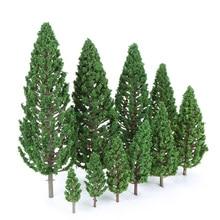 22 шт Ho масштабная пластиковая Миниатюрная модель деревья для строительства поезда Макет железной дороги пейзаж аксессуары игрушки для детей
