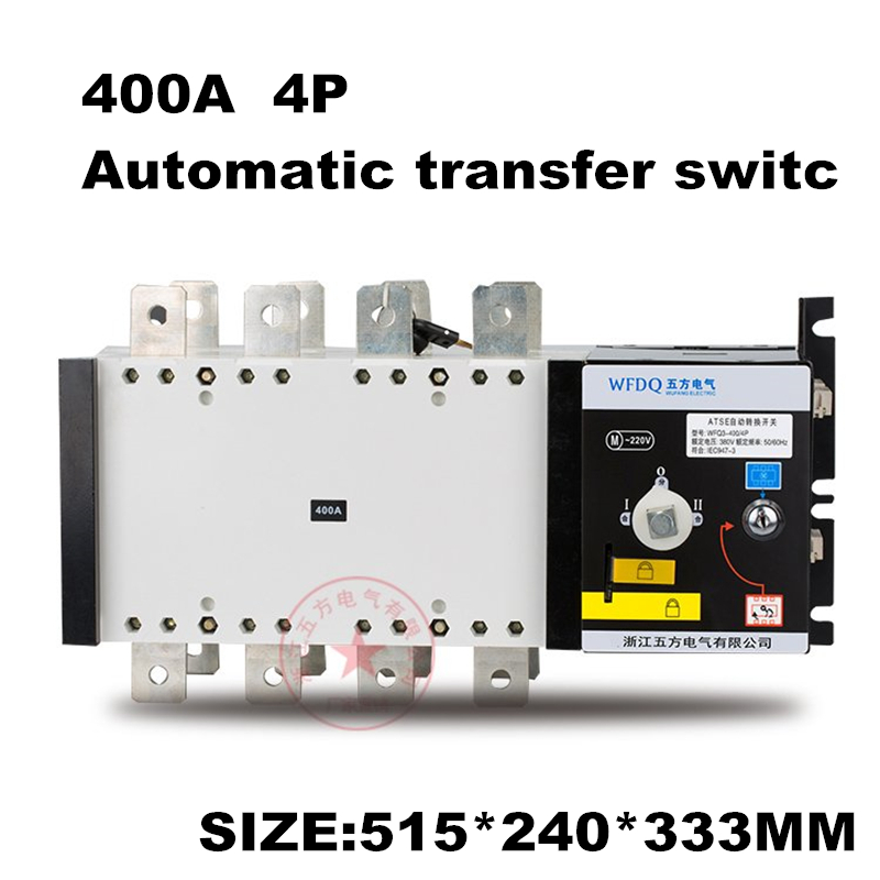 4P 400A 380V Isolation type Dual Power Automatic transfer switch ATS