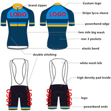 Top Quality Pro Custom Cycling Jersey Bib Set Customized Bike Clothing Cycling Set Factory Man Set Fast Shipping
