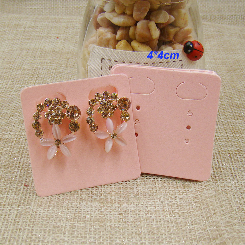 Wholesale Diy Pink Earring Card Stud Jewelry Earring Packing And Display Card 100pcs Per Lot Custom Cost Extra