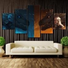 5 шт. HD стены книги по искусству мультфильм картина печатных Игра престолов фильм Дракон монтер плакаты стены для декор в гостиную