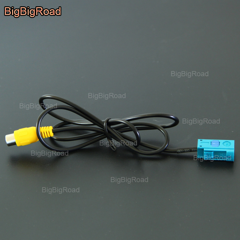 BigBigRoad For Volvo XC60 XC90 V70 XC70 S80 S80L Car Adapter Connector Wire Cable Rear View Camera Original Video Input RCA