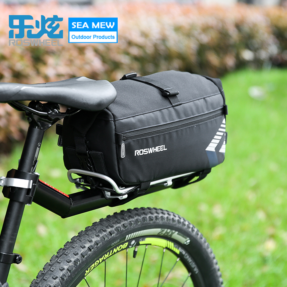 Roswheel NEW Tear Resistant Cycling Bike Bag Bicycle Rear Seat Trunk Handbag Panniers Mountain Accessories
