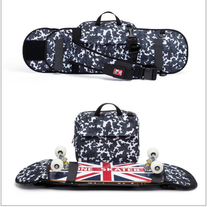 Image 5 - Street Skateboard Backpack Single Shoulder Double Rocker Carrying Bag 900D Nylon Oxford Knapsack Suits For 21x90cm Decks-in Skate Board from Sports & Entertainment