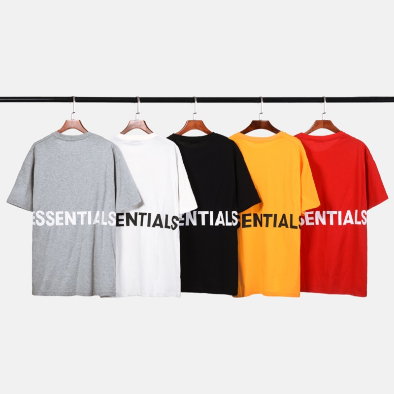 52b1e3cf QoolXCWear 2019 men/women t-shirt kanye west fog loose ovesized high street  essentials hip hop cotton tshirt tops tee t shirt