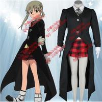 Soul Eater Maka Albarn Cosplay Anime Vestiti Cosplay Abiti Completi Delle Donne di Halloween Coat + Shirt + Vest + Skirt + Tie + Guanti