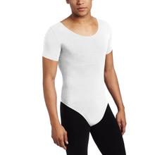 9705bf048 Speerise Men Gymnastics Leotard Ballet Costumes Lycra Nylon Custom Skin  Tight Dancewear Bodysuit Black Suits(