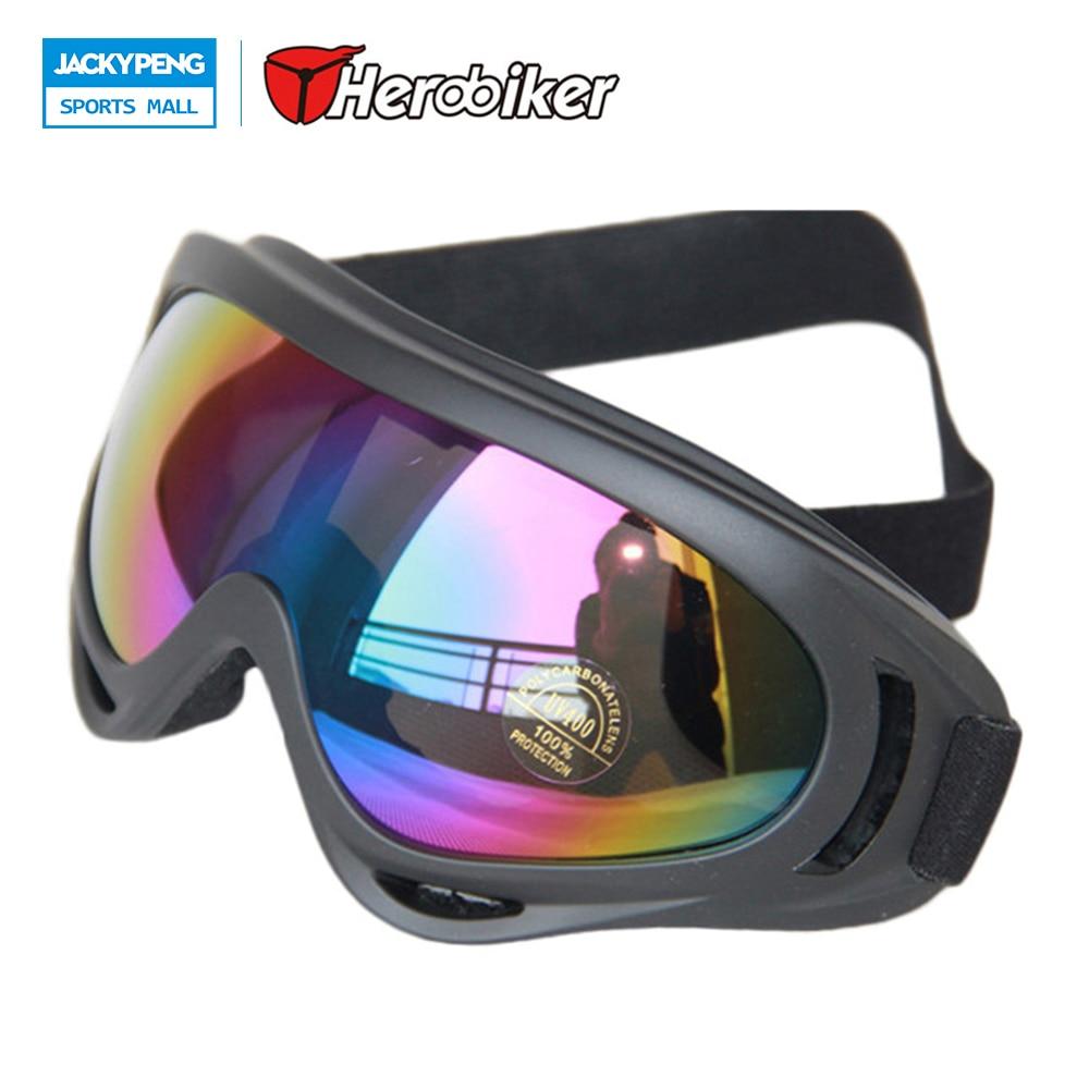 Herobiker X400 лыжные очки и велосипедные очки, ПК, 100% UVA/UVB Защитный, ansi Z87.1 strandard, красочные объектив Бесплатная доставка