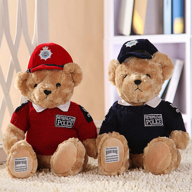 Hot Sale 7.9''20CM Lovely Teddy Bear Police Bear Cute Stuffed Toys Brinquedos Gifts for Children Girls High Quality In Stock hot sale toys 45cm pelucia hello kitty dolls toys for children girl gift baby toys plush classic toys brinquedos valentine gifts