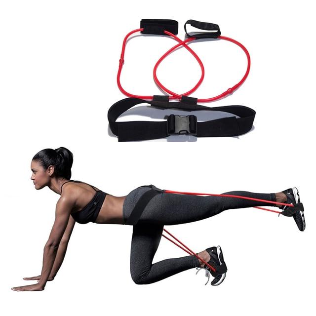 2018 Leg Muscle Training Resistance Bands Natural Latex Elastic Yoga Training Rope Drawstring Fitness Training Strap equipment