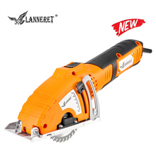 цена на LANNERET Mini Circular Saw 700W Mini Saw Handy Tool, 3pcs Blades, Parallel Guide Attachment Tools for Wood Saw Metal Saw