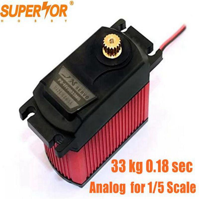 JX Servo PS-HV9033MG 33KG Metal gear High Voltage Core Analog Servo 1/5 Car compatible SAVOX-0236 LOSI XL 5T BAJA PDI-HV2060MGJX Servo PS-HV9033MG 33KG Metal gear High Voltage Core Analog Servo 1/5 Car compatible SAVOX-0236 LOSI XL 5T BAJA PDI-HV2060MG