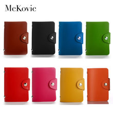 Mckovic ID Business Card Holder Wallet High Quality PU Leather Colorful Credit Card Case Men Women 24 Bits ID Pasjes Cardholder(China)