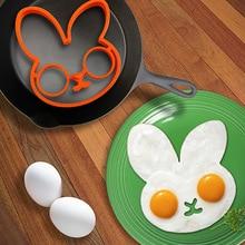 Креативный кролик жареная форма для омлета форма Пищевая силиконовая форма для выпечки Форма для торта омлет формирователь колец DIY еда форма для завтрака