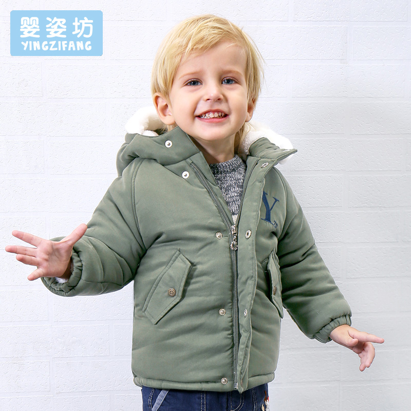 2017 Hot Sale Winter Baby Outerwear Toddler Boys Jacket Coats Casual Style Cotton Thick Hooded Coat Kids Boys Parka