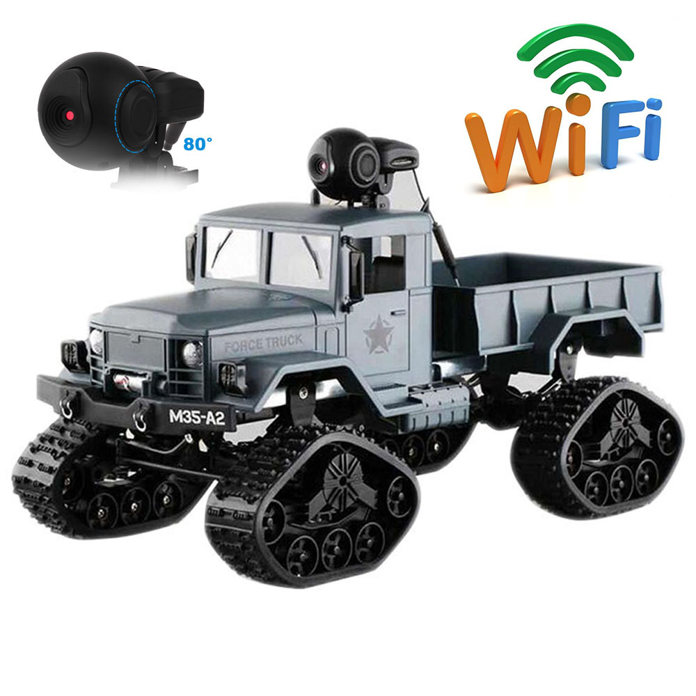 WiFi 2.4G Remote Control Car 1:16 Military Truck Off-Road Climbing Auto Toy 4 Wheel Drive RC Car Controller Toys for Children