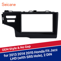 Seicane 2Din Dash Mount Car Stereo Fascia Install Radio Panel Frame for 2013 2014 2015 Honda Fit Jazz LHD with SRS Hole