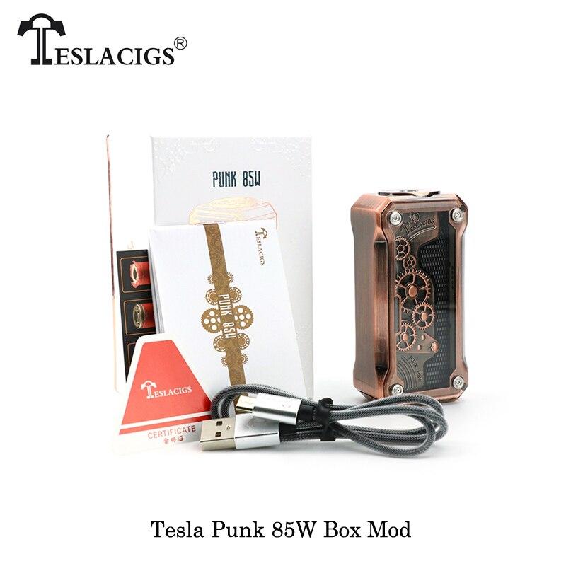 Cigarettes électroniques Teslacigs Tesla PUNK 85 w KA/TC/TCR Boîte Mod Alimenté Par 18650 Batterie Vaporisateur Vaporisateur VS Eleaf ijust s bobine