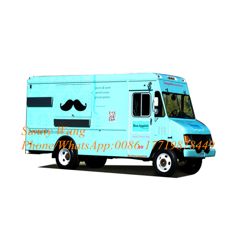 Electric Food Truck/hot Dog Cart/Breakfast Wagon Stainless Steel Food Truck Equipment