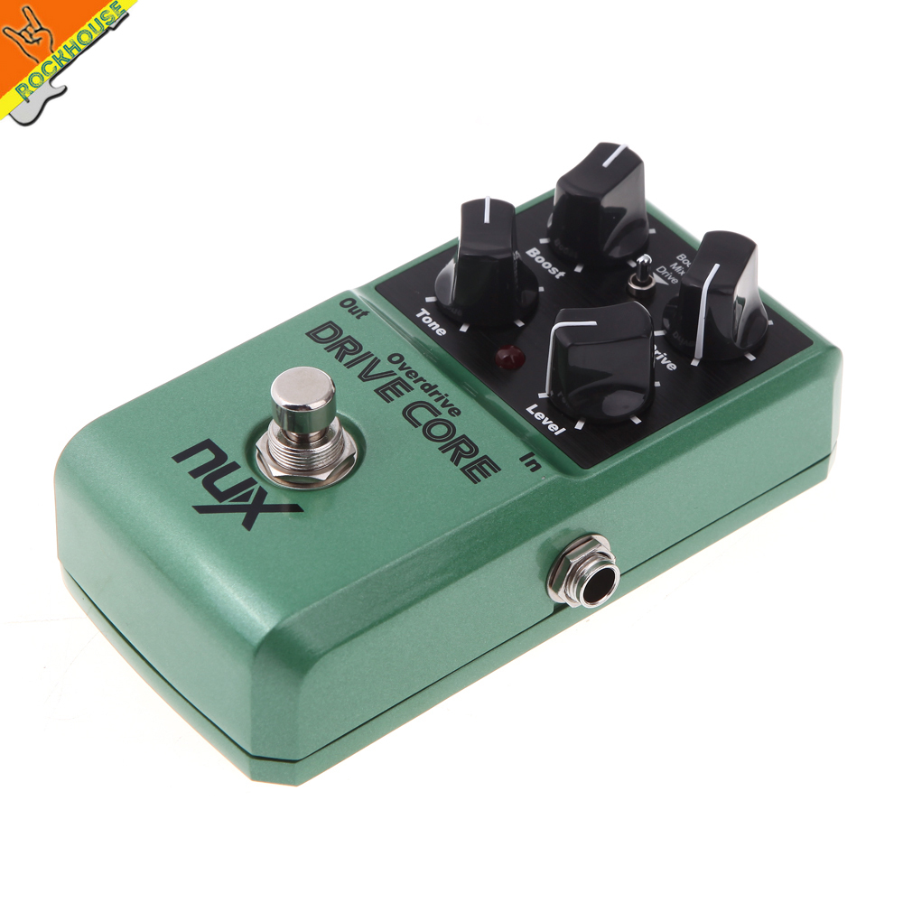 ФОТО NUX Drive Core High-gain Guitar Overdrive Effects pedal with Booster effect large adjustable range true bypass Free shipping