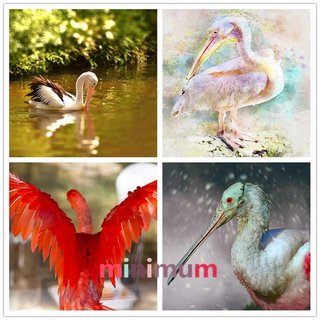 Home Decor Diamond Embroidery Mosaic Tropical Bird Diy 5d Painting Pelicans Cross Sch