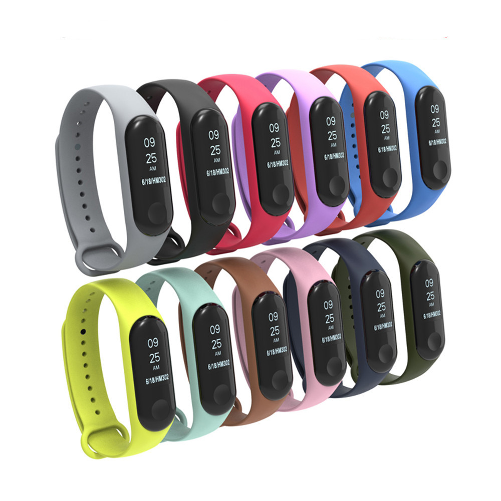 For Mi Band 3 4 Sport Strap Bracelet Watch Silicone Wrist Strap For Xiaomi Mi Band 3 4 Accessories Bracelet For Miband3 Strap