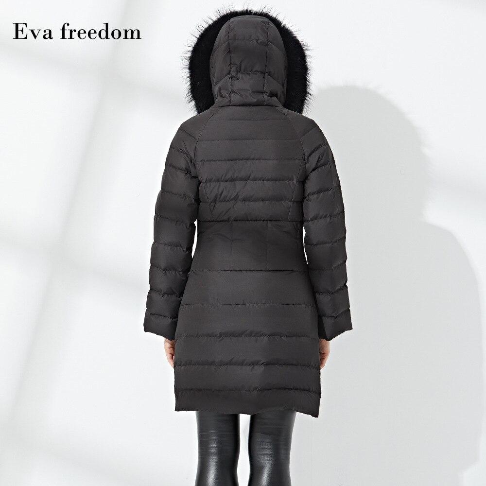 Eva Bas Fourrure 2018 De Liberté Femmes Vers Pour Manteau Euramerican Black Ef12228 Taille Veste Le Hiver La Grand Col Nouveau qwr1pX6q