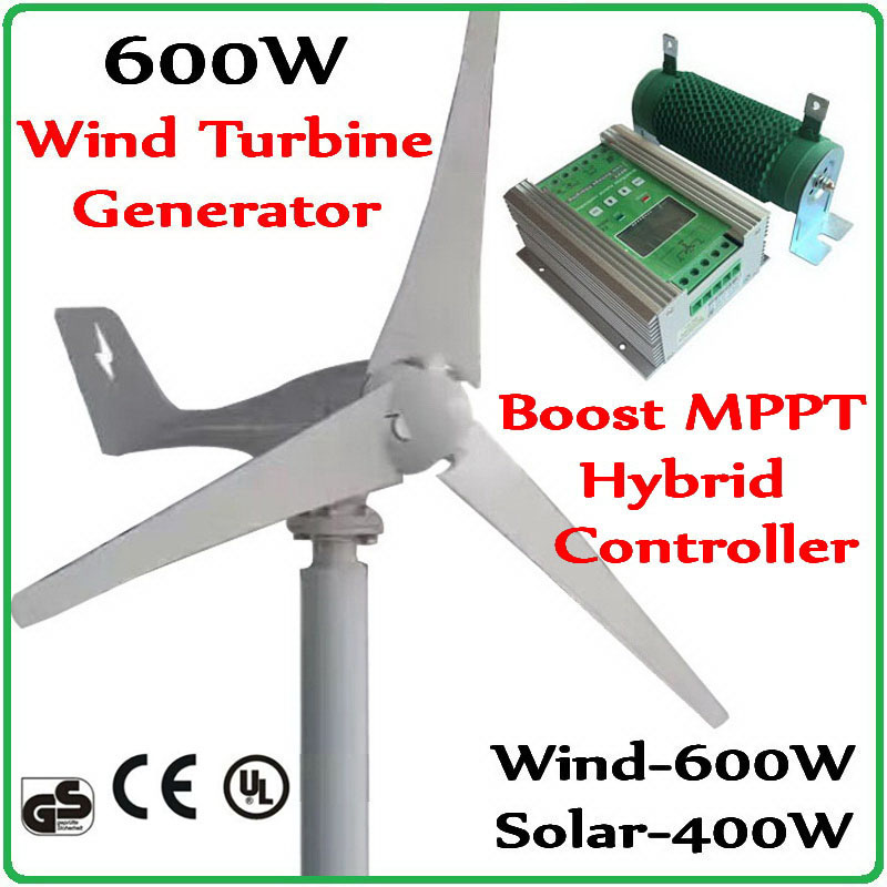 600W Wind Turbine Generator & 1000W Boost MPPT Wind Solar Hybrid Charge Controller for 600W wind generator and 400W solar panels 7 inch video door phone doorbell intercom kit 1 camera 1 monitor