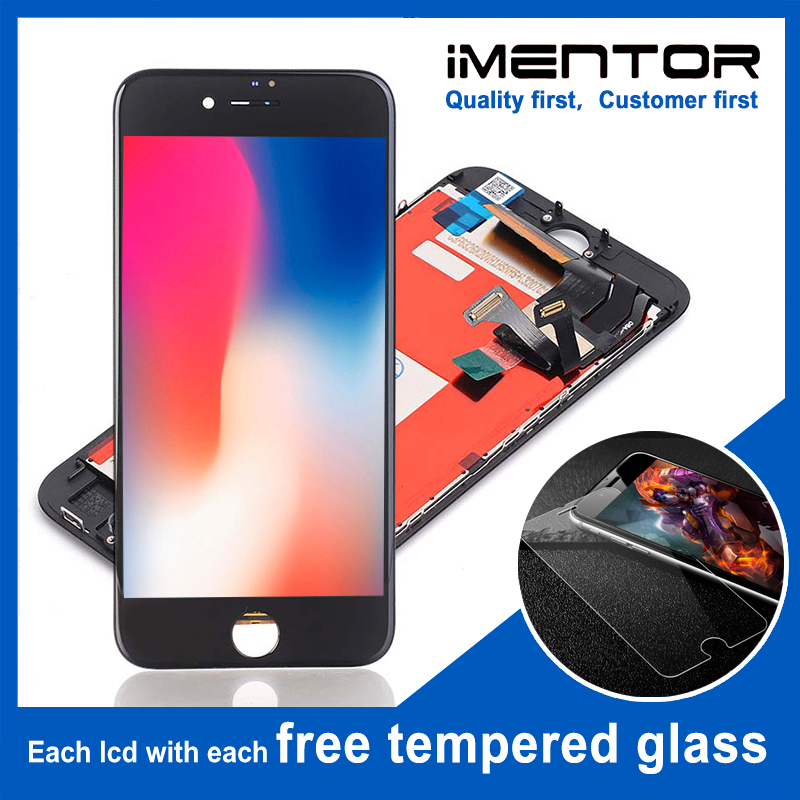 10pcs/lot TIANMA LCD screen display assembly for iphone 8 8G with 3d touch free tempered glass 10pcs(China)