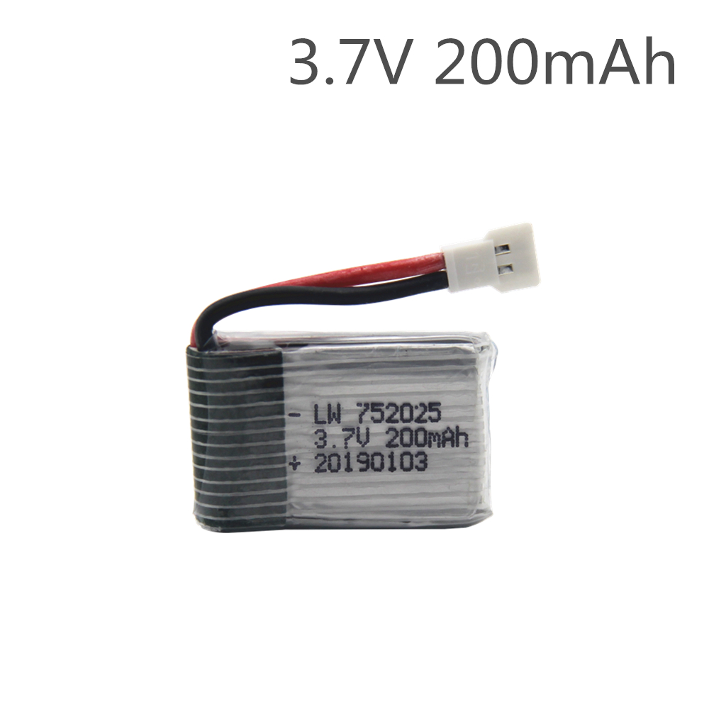 Drone Battery 3.7V 200mAh 752025P Lipo Rechargeable Efficient High Performance Lithium Battery for SYMA X11 X4 X13