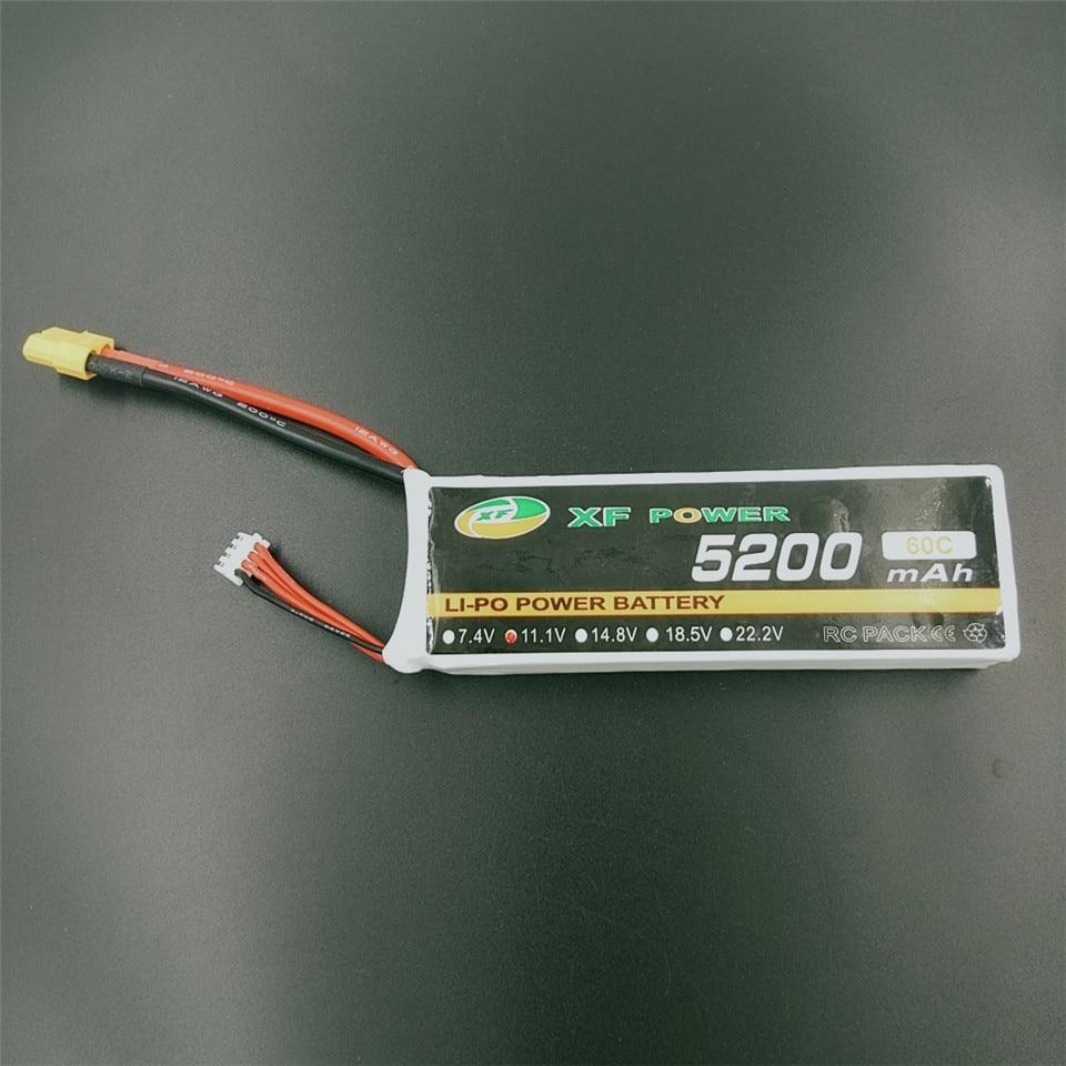 XF puissance 11.1V 5200mAh 60C 3S Lipo batterie avec XT60 Plug batterie au Lithium pour RC quadrirotor avion haute vitesse RC voitures bateaux