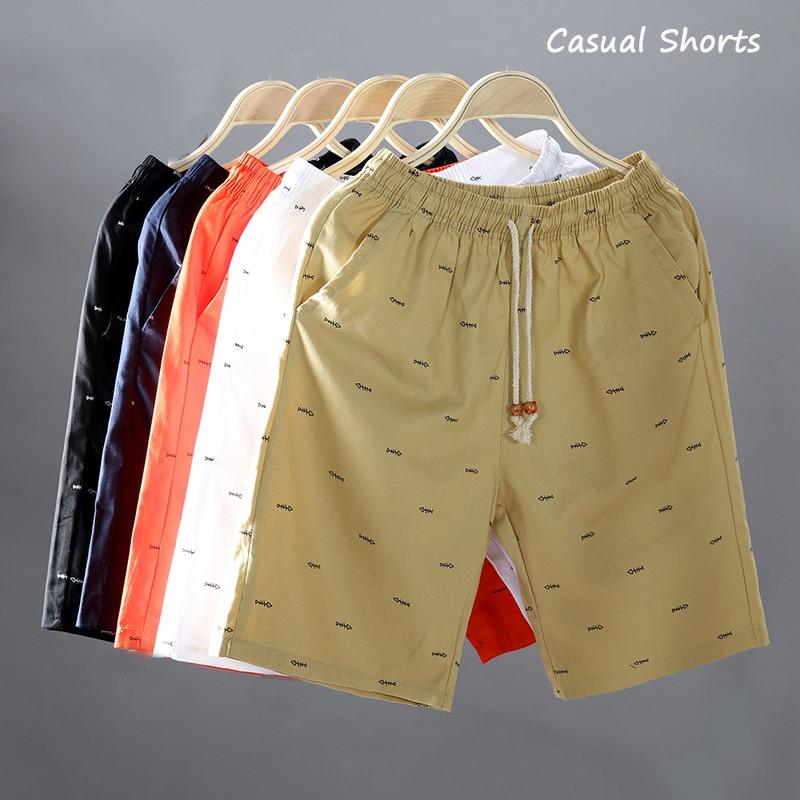 2018 Summer Casual Shorts Men Fish Printed Drawstring Cool Mens Shorts Cotton Cargo Short Pants Big Size