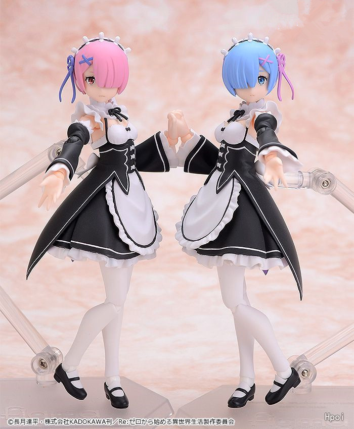 Anime Re:Life in a different world from zero Rem Figma 346 / Ram Figma 347 PVC Action Figure Collectible Model Toys Doll 13cm anime re life in a different world from