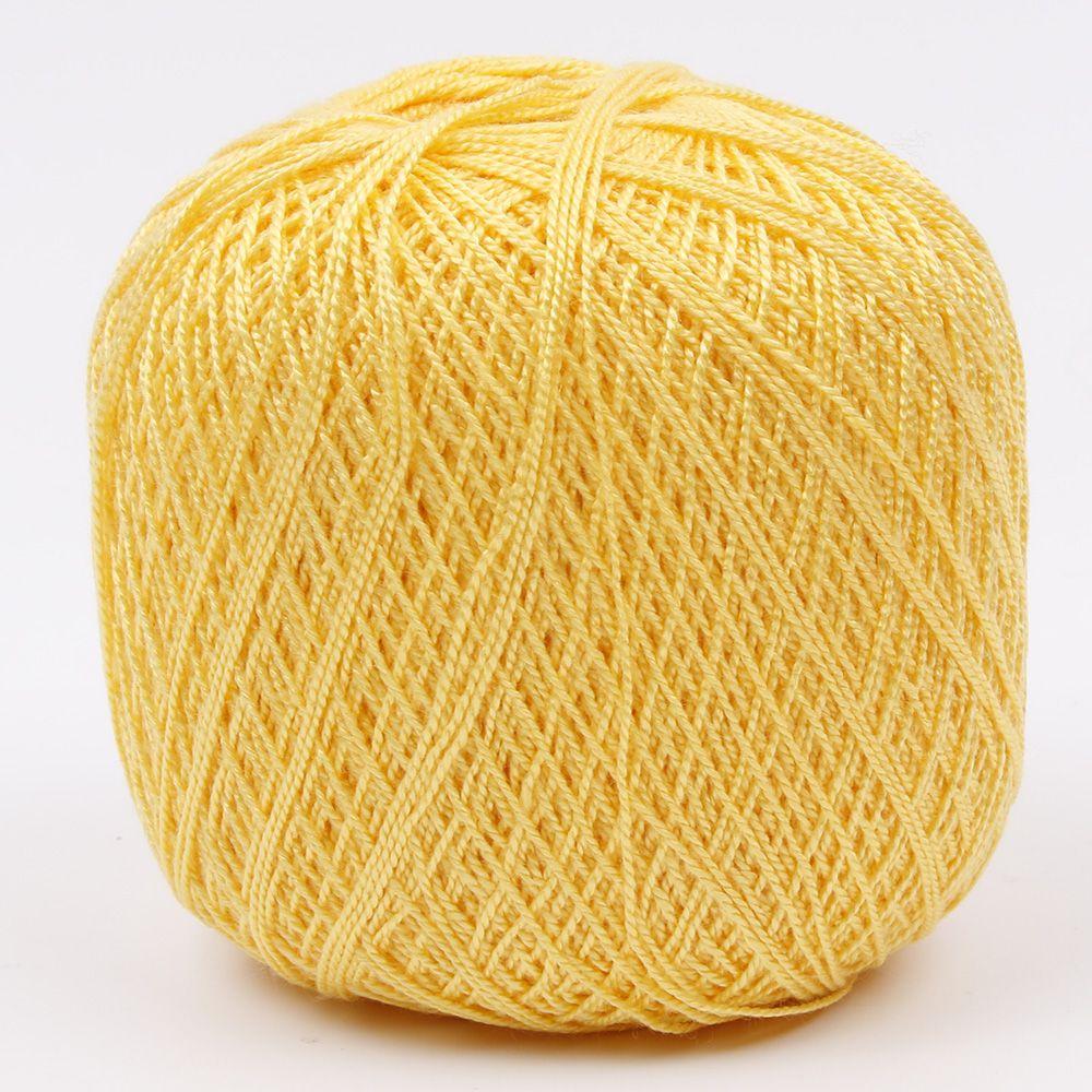 1 шт. DIY мерсеризованный хлопок шнур нить ПРЯЖА для вышивки крючком вязание кружева Ювелирные Изделия швейные инструменты аксессуары - Цвет: Лимонно-желтый