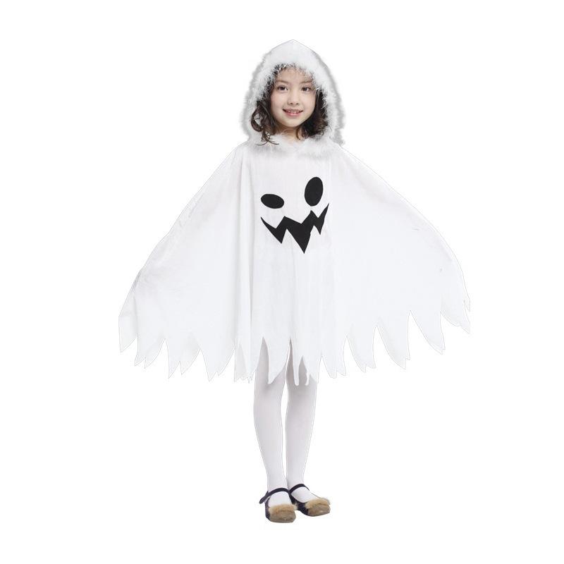 ghost costume for kids nios chicas linda genio blanco cabo dress cosplay traje de fiesta de