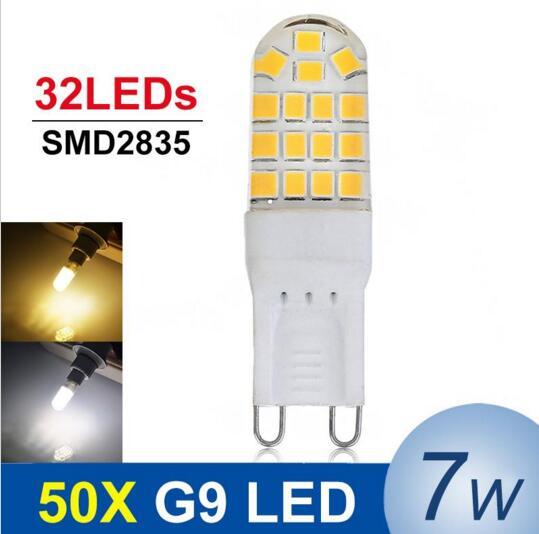 Mini G9 LED 7W AC220V 240V G9 LED Lamp Bulb SMD2835 LED G9 Light Replace Halogen Lamp Chandelier Lights Wholesale 50pcs/lot eco cat g9 led lamp ac 220v led bulb crysta 5w 7w 9w smd 2835 3014 led light for chandelier spotlight replace halogen lamp