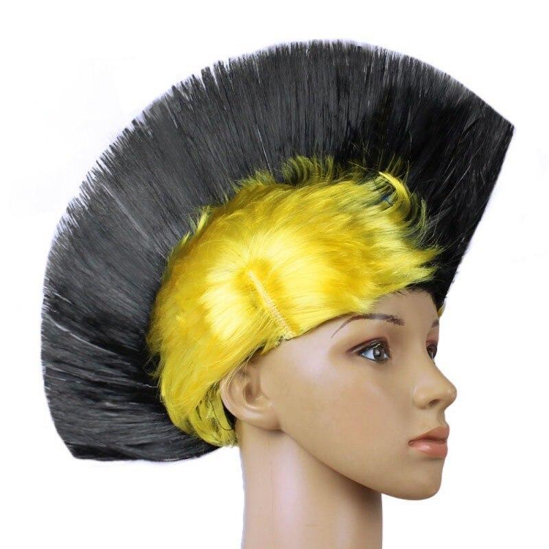 Hot Rainbow Mohawk Hair Wig Fancy Costume Punk Rock Wigs Halloween Cosplay Party 14