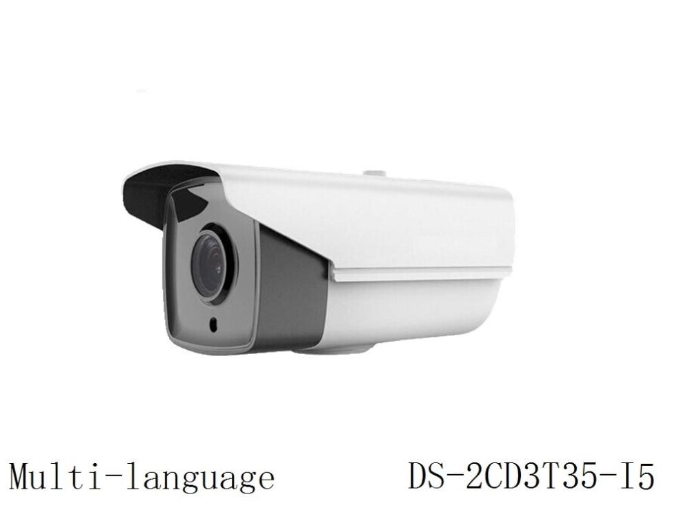 Multi language Version DS 2CD3T35 I5 3MP CCTV IP Camera Support ONVIF PoE IR 50M Waterproof