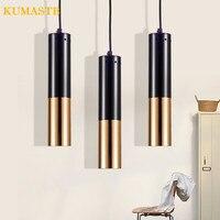 Tubular Pendant Light Modern Brief Creative Vintage Industrial Pendant Lamp Art Cafe Restaurant Bar Metal Hanging