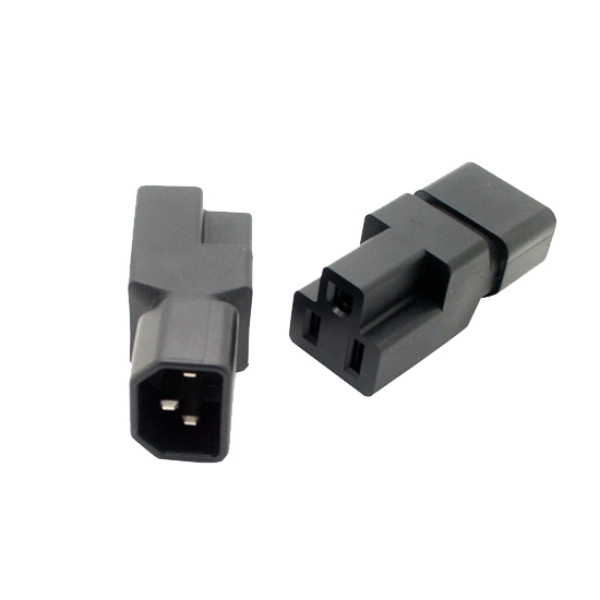 IEC320-C14 to Nema 5-15R low profile adapter new, C14 to 5-15R adapter, 3Pin IEC male to US femaAC PLUG CONVERTER