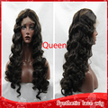 Wholesale cheap synthetic full lace wig 2# deep wavy curly hair heat resistamt brazilian lace front quality eigs for black women
