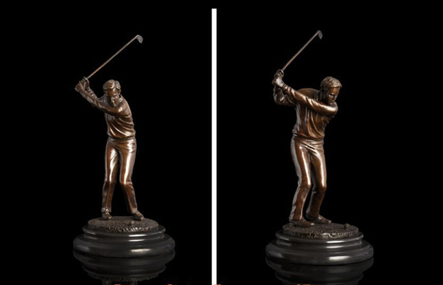 Art Deco Sculpture Male Golf Player Bronze Statue Decoration Bronze Factory  Outlets