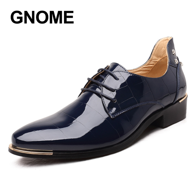 Gnome Men Shoes Dress New Fashion Pu Leather Oxford For Luxury Groom Wedding