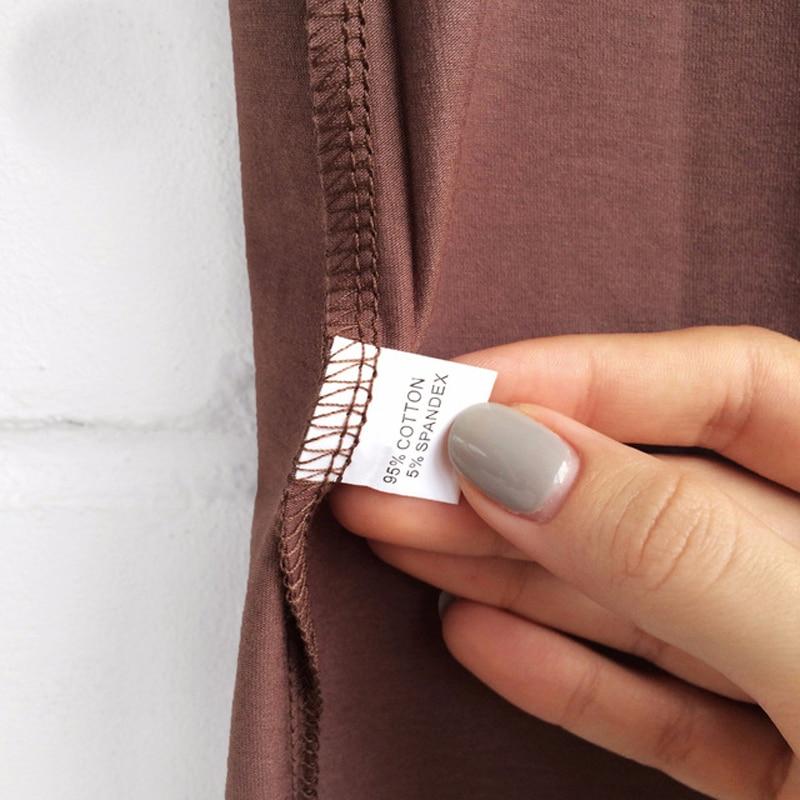 High Quality Plain T Shirt Women Cotton Elastic Basic T-shirts 4