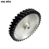 350 50 25mm Belt Sander Rubber Wheel Grooved Surface Belt Grinder Contact Wheel Dynamically Balanced